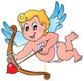 Tema 1 del Cupid del biglietto di S. Valentino Fotografia Stock