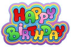 Tema 1 di buon compleanno illustrazione di stock