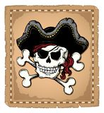 Tema 2 del cráneo del pirata de la vendimia Fotografía de archivo