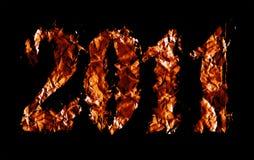 Tema 2011 di nuovo anno Fotografie Stock