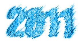 Tema 2011 di nuovo anno Fotografia Stock