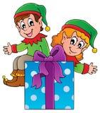 Tema 3 del duende de la Navidad stock de ilustración