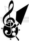 Tema abstracto de la música ilustración del vector