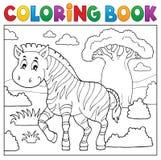 Tema africano 4 de la naturaleza del libro de colorear libre illustration