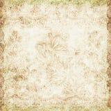 Tema antiguo floral del fondo de la vendimia Foto de archivo libre de regalías