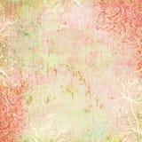 Tema antiguo floral del fondo de la vendimia Fotografía de archivo