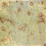 Tema antiguo floral del fondo de la vendimia Fotos de archivo libres de regalías