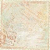 Tema antiguo floral del fondo de la vendimia stock de ilustración