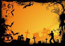 Tema arancione di Halloween Immagini Stock Libere da Diritti