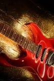 Tema astratto di musica della chitarra Fotografie Stock