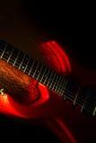 Tema astratto di musica della chitarra Fotografia Stock Libera da Diritti