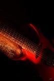 Tema astratto di musica della chitarra Fotografie Stock Libere da Diritti