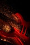 Tema astratto di musica della chitarra Fotografia Stock