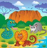 Tema australiano 6 dos animais Foto de Stock Royalty Free