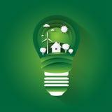 Tema av att bevara miljön royaltyfri illustrationer