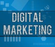 Tema binario del negocio del márketing de Digitaces Fotografía de archivo libre de regalías
