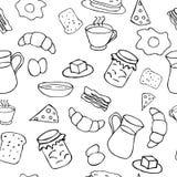 Tema blanco y negro del desayuno Fotos de archivo