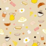 Tema colorato della prima colazione Immagine Stock