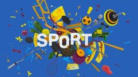 Tema colorido del deporte Foto de archivo
