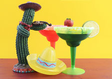 Tema colorido feliz del partido de Cinco de Mayo Fotografía de archivo