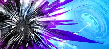 Tema colorido futurista abstrato da nanotecnologia ilustração do vetor