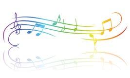 Tema Colourful di musica Fotografia Stock