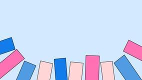 Tema creativo della tavolozza della caramella di rettangoli di idea per il fondo di presentazione con lo spazio della copia illustrazione vettoriale