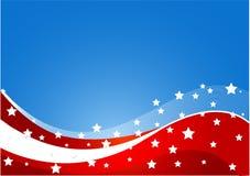 Tema da bandeira dos EUA Fotografia de Stock