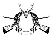 Tema da caça da estrutura Fotografia de Stock Royalty Free