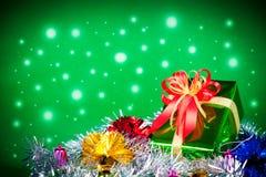 Tema da celebração com os presentes do Natal & do ano novo Imagens de Stock Royalty Free
