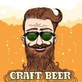 Tema da cerveja do ofício do moderno ilustração royalty free