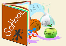 Tema da escola Imagens de Stock