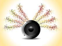 Tema da música para mais fundo Fotografia de Stock Royalty Free