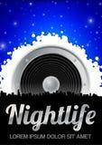 Tema da vida noturno com altofalante Fotografia de Stock
