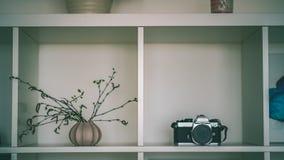 tema das decorações do casamento, flores no interior branco - vintage f Fotos de Stock