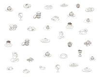 Tema das refeições do café ilustração stock