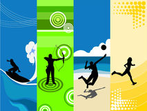 tema de 4 deportes libre illustration