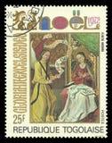 Tema de Annonciation Christmas de la pintura Imagenes de archivo