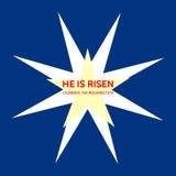 Tema de Christian Easter con las estrellas y el texto lo suben - celebre la resurrección libre illustration