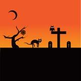 Tema de Dia das Bruxas ilustração stock