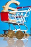 Tema de Finacial com fundo brilhante Imagens de Stock Royalty Free