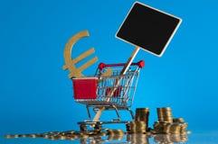Tema de Finacial com fundo brilhante Imagens de Stock