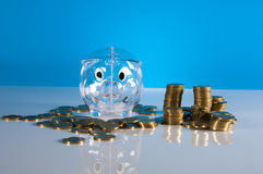 Tema de Finacial com fundo brilhante Imagem de Stock Royalty Free