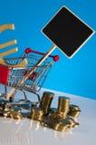 Tema de Finacial com fundo brilhante Fotos de Stock