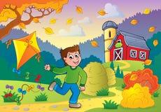 Tema 1 de la actividad del otoño ilustración del vector
