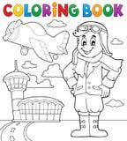 Tema 3 de la aviación del libro de colorear libre illustration