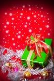 Tema de la celebración con los regalos de la Navidad y del Año Nuevo Fotos de archivo
