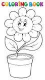 Tema 5 de la flor del libro de colorear Fotos de archivo