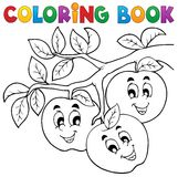 Tema 1 de la fruta del libro de colorear Imagen de archivo libre de regalías