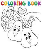Tema 2 de la fruta del libro de colorear Imagen de archivo libre de regalías